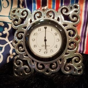 Brighton Geneva Silver Clock NWT